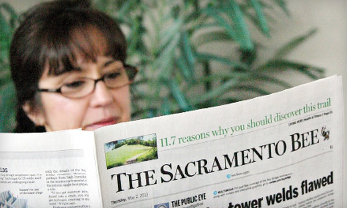 "The Sacramento Bee: 26-Week Sunday Plus Print Subscription with Optional Full Digital Subscription to ""The Sacramento Bee"" (Up to 77% Off)"
