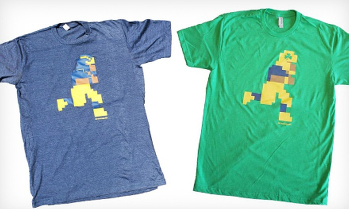 8 Bit College: One or Two Retro, 8-Bit Sports Tees from 8 Bit College (Up to 54% Off)