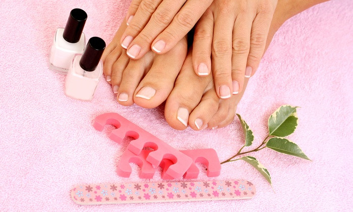 Hair Motives - Holiday Hill: Manicure and Pedicure at Hair Motives (Up to 53% Off)