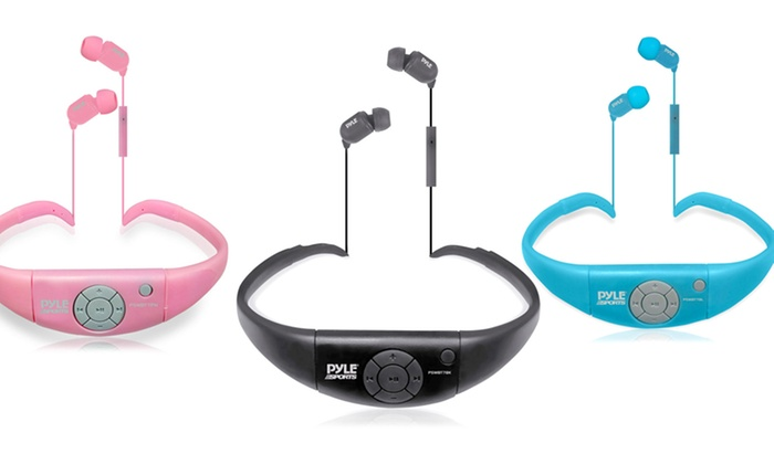 Pyle Active Sport Waterproof Bluetooth Headphones: Pyle Active Sport Waterproof Bluetooth Headphones with Mic and Remote