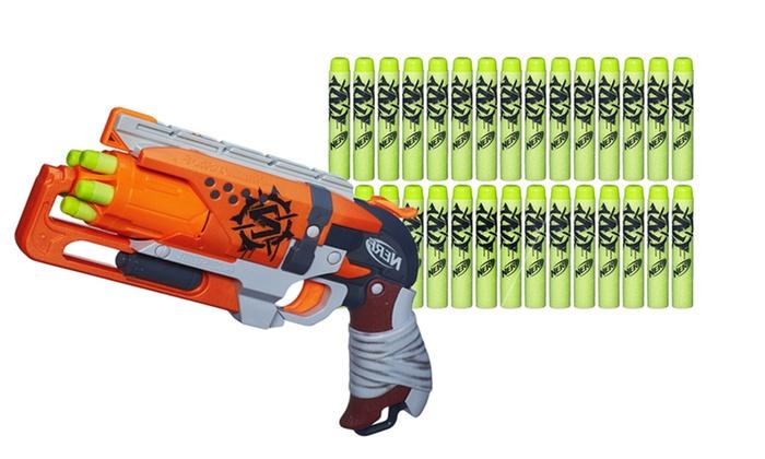 Nerf Zombie Strike Hammershot Blaster with Dart Refills: Nerf Zombie Strike  Hammershot Blaster and Dart ...
