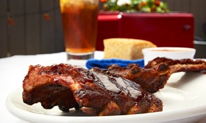 The Rib Trader: $28 for Jim's Barbecue Family Pack for Four at The Rib Trader ($53 Value)
