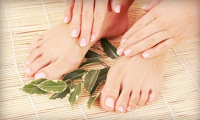 Trinity Salon & Spa - Woodland Hills: Olive-Oil Restorative Manicure with Optional Pedicure at Trinity Salon & Spa (Up to 55% Off)