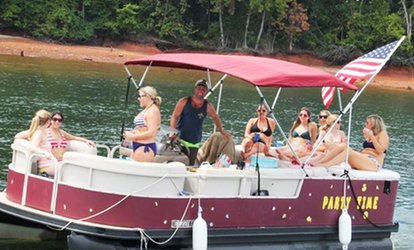 Party-Boat Island and Golf-Course Cruise for Four or Eight from Pontoon Charter LKN (Up to 50% Off)