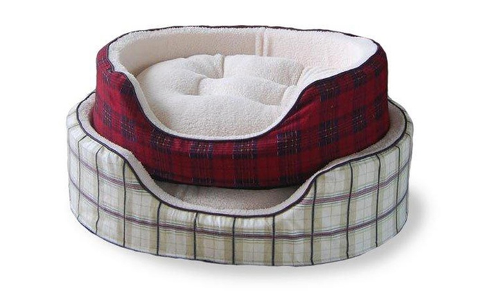 FurHaven Plaid Pet Loungers: FurHaven Plaid Pet Lounger (Up to 52% Off). Multiple Sizes and Colors Available. Free Shipping and Returns.