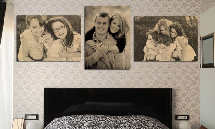"Custom Photos on Wood from Picture Bungalow: Set of Three 5""x7"", 8""x10"", or 11""x14"" Custom Photos on Wood from Picture Bungalow Available from $39-79"