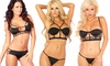 Pink Lipstick Cage Women's Bras and Panty Set: Pink Lipstick Cage Women's Bras and Panty Set