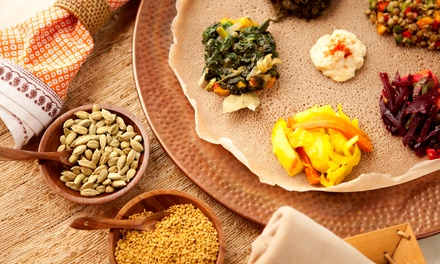 Ethiopian Food at Balageru Restaurant and Bar (Up to 53% Off). Three Options Available.