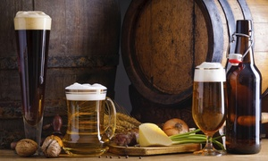 Bierhaus: $10.99 for 64-Ounce Growler with Three $5 Credits for Craft Beer Refills from Bierhaus ($20 Value)