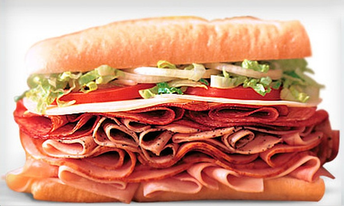 Blimpie America's Sub Shop - Holmdel: Five 6-Inch Subs or a Sub Party Package from Blimpie America's Sub Shop (Up to 46% Off)