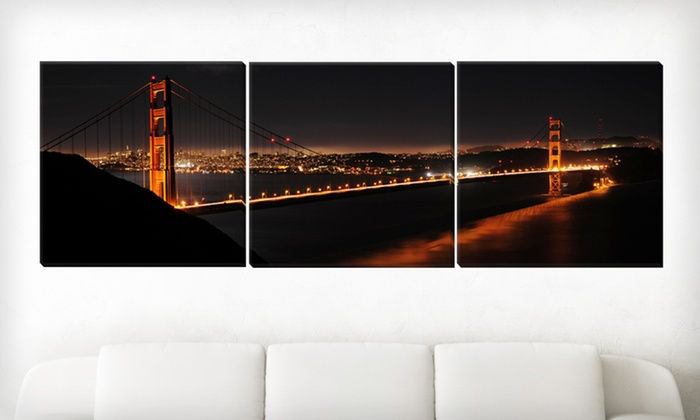 Panoramic Gallery-Wrapped Landmark Triptych: $99 for a Gallery-Wrapped Canvas Landmark Triptych ($438 List Price). 15 Options Available. Free Shipping and Returns.