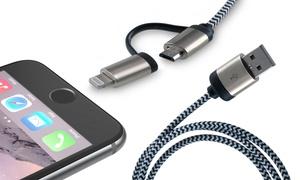 Câble tressé iPhone/Android 2en1