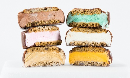 12 Ice Cream Sandwiches with Optional 12 Cookies or a Pack of Cookie Dough at It's-It Ice Cream (Up to 46% Off)