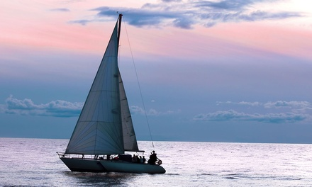 Private Sailing Lesson for Two, or Two-Hour BYOB Sunset Cruise for Two or Four from The Sailboat Club (Up to 70% Off)