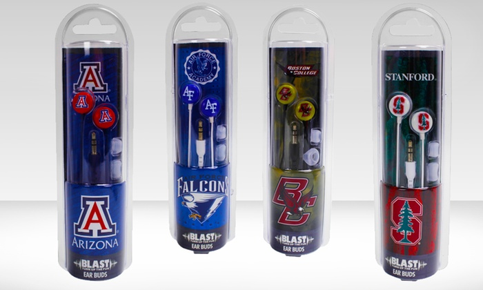 NCAA Earbuds: $7.99 for NCAA Earbuds ($19.99 List Price). Multiple Teams Available. Free Returns.