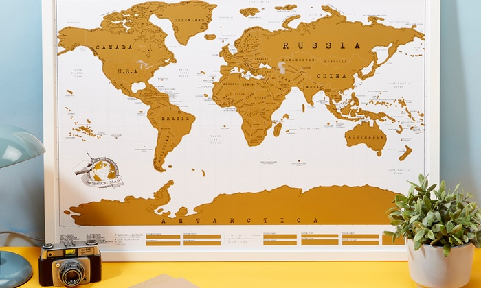Scratch the world map groupon one aed 49 two aed 79 or four aed 149 scratch the world maps gumiabroncs Image collections