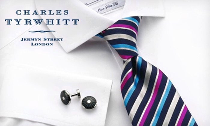 Charles Tyrwhitt: Dress Shirts and Accessories from Charles Tyrwhitt (Half Off). Two Options Available.