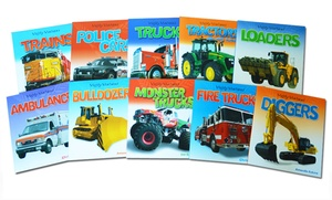 Mighty Machines Children's 10-Book Bundle