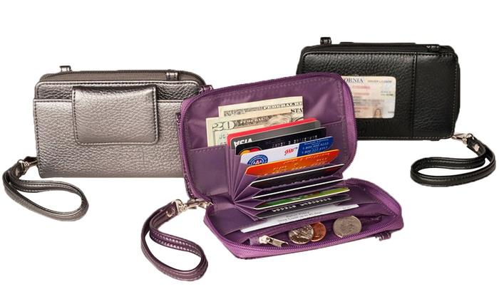 Buxton RFID Convertible Cross-Body Bag and Wristlet