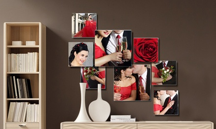 Three-, Five-, or Eight-Piece Custom Photo to Glass Collage from Pixtac.com (Up to 81% Off)