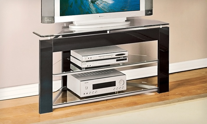 Powell Collection Media Stands: Powell Collection TV and Media Stands (Up to 57% Off). Three Options Available.