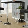 Monarch Specialties Chrome Hydraulic Lift Adjustable Modern Barstools