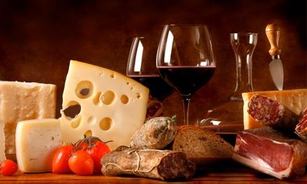 Degustazione di vini con tagliere