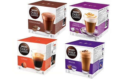 Nescafe Dolce Gusto Chocolate, Coffee or Tea Pods FourPack