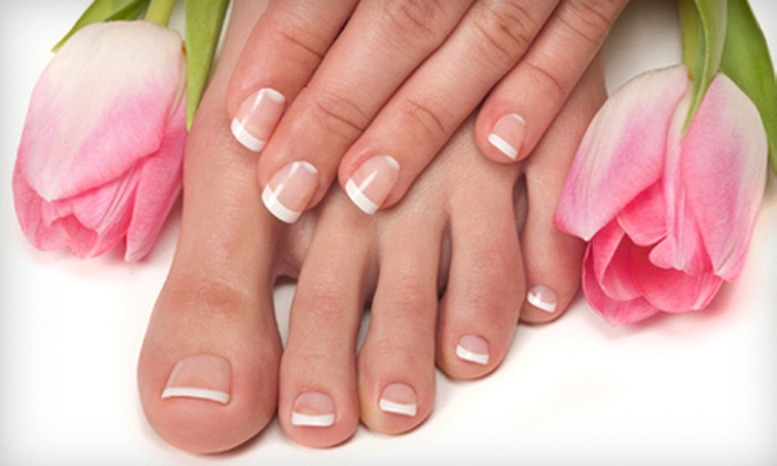 Bailiwick Hair Center - Wyomissing: Spa Mani-Pedi or Caribbean Therapy Mani-Pedi at Bailiwick Hair Center in Reading (Up to 59% Off)