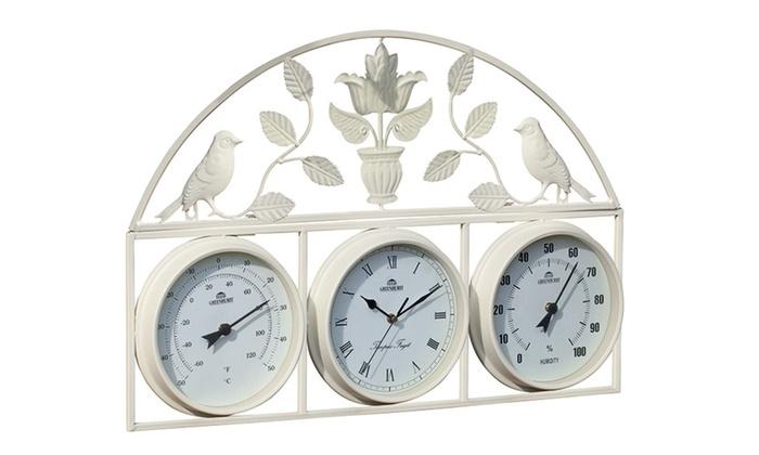 garden clocks groupon goods. Black Bedroom Furniture Sets. Home Design Ideas