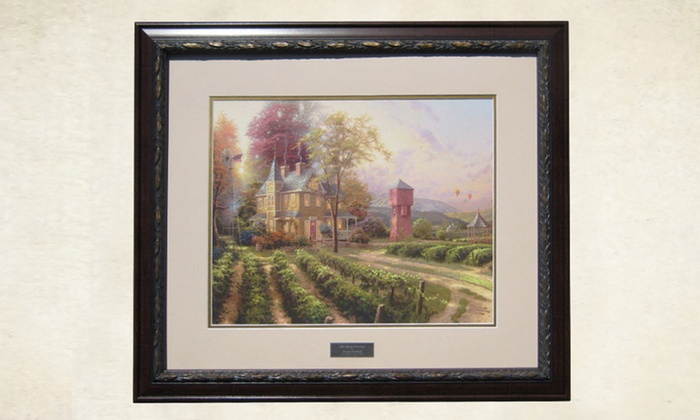 Framed thomas kinkade print groupon goods - Home interiors thomas kinkade prints ...