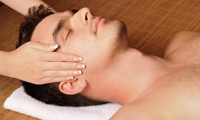 Men's Spa at The Mansion - West Peabody: One Men's Spa Facial with Optional Shave or One One-Hour Hot-Stone Massage at Men's Spa at The Mansion (Up to 54% Off)
