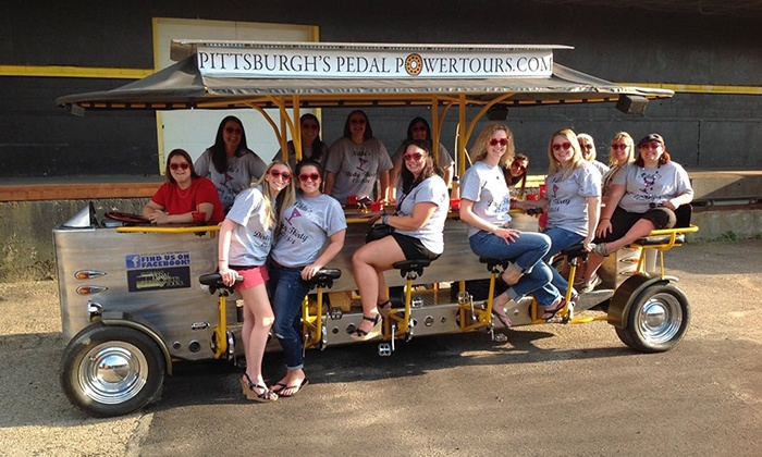 Pedal Power Tours - Pittsburgh: $26 for a Weekday Pedal-Powered Trolley Tour for Two from Pedal Power Tours ($50 Value)