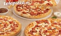 1, 2 o 5 pizzas medianas o 1, 2 pizzas familiares masa fina con 5 ingredientes o especialidad desde 4,95€ en Telepizza