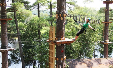 $49.99 for 3-Hour Zip Lining and Aerial Park Pass with Sportsland Play at Santa's Village (Up to $91.50 Value)