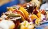 Aladdin Jr Restaurant & Cafe - Pomona: Arabic Cuisine at Aladdin Jr Restaurant & Cafe (Up to 40% Off). Three Options Available.