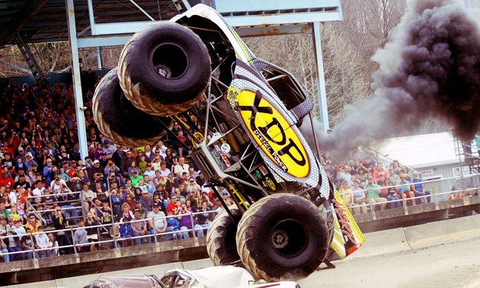 KSR Motorsports' Monster Truck and Motorcycle Thrill Show - Maple Grove Raceway: KSR Motorsports' Monster Truck and Motorcycle Thrill Show for One or Two at Maple Grove Raceway (Up to 50% Off)