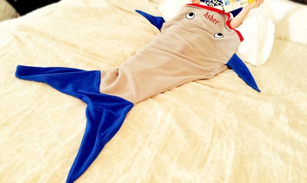 One Personalized Kids' Minky Fleece Mermaid or Shark-Tail Blanket (Up to 50% Off)