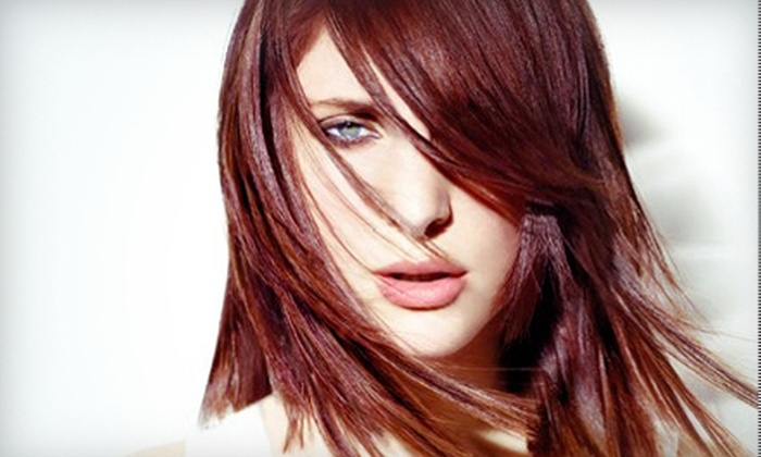 Leading Edge Aveda Salon - Santa Rosa: Haircut Package at Leading Edge Aveda Salon in Santa Rosa (Up to 61% Off). Two Options Available.