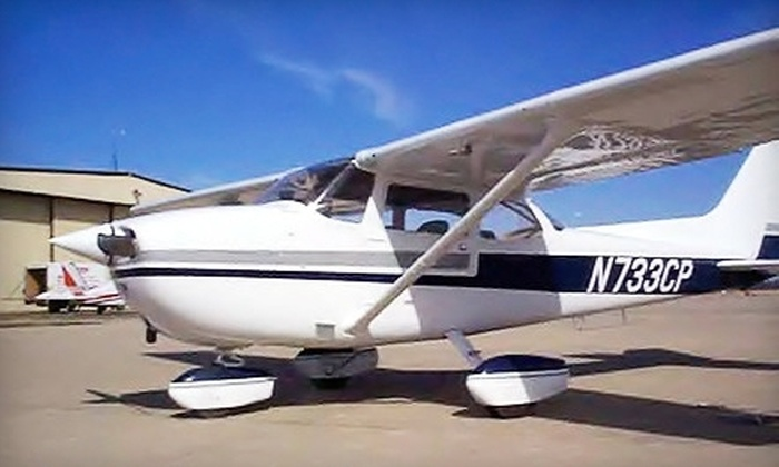 Above & Beyond Aviation - Austin: Discovery Flight for Two or Introductory Lesson for One at Above & Beyond Aviation (Up to 58% Off)