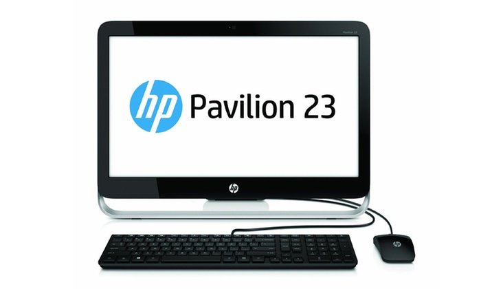 """HP Pavilion 23"""" All-in-One Desktop: HP Pavilion 23"""" All-in-One Desktop with Quad-Core Processor, 4GB RAM, and 500GB Hard Drive (Manufacturer Refurbished)"""