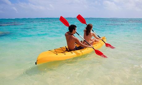 Alquiler de kayak durante 3 horas para 2, 4, 6 u 8 con todo el material incluido desde 14,95 € en Portocolom Diving Club