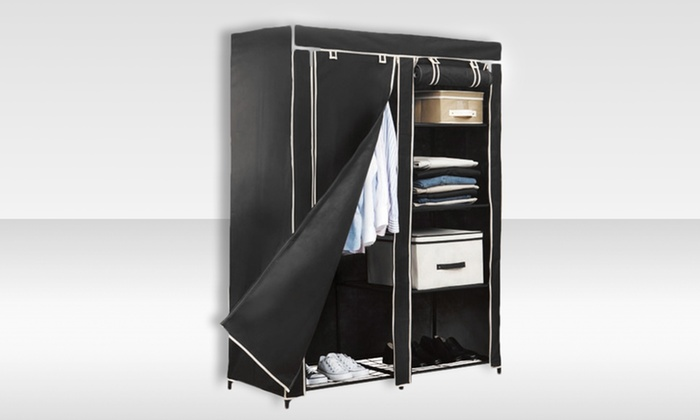 "Simplify 48"" Portable Closet: $39.99 for a Simplify 48"" Portable Closet in Black ($66 List Price). Free Shipping and Returns."