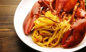 Ristorante  D'Avino: Menu di mare con astice, dessert e bottiglia di vino per 2 o 4 persone al Ristorante D'Avino (sconto fino a 60%)