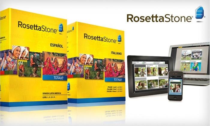 Rosetta Stone: $249.99 for a Rosetta Stone French, Italian, or Spanish Level 1–4 Set ($449 List Price). Free Shipping