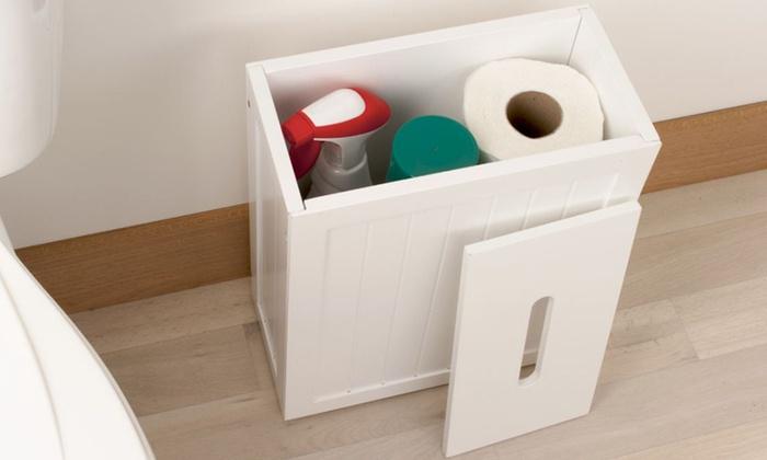 meuble ou coffre de rangement wc salle de bains groupon shopping. Black Bedroom Furniture Sets. Home Design Ideas