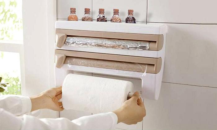 Dispenser porta rotoli da parete groupon - Porta scottex da parete ...