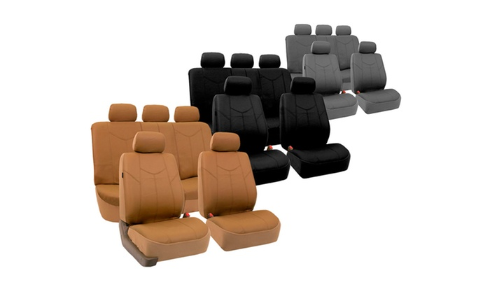 Faux-Leather Car-Seat Covers: Faux-Leather Car-Seat Covers. Multiple Options Available from $39.99–$49.99. Free Returns.