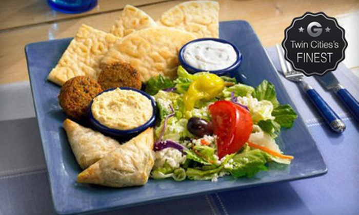 Dino's Gyros - Multiple Locations: $10 for $20 Worth of Casual Greek Food and Drinks at Dino's Gyros