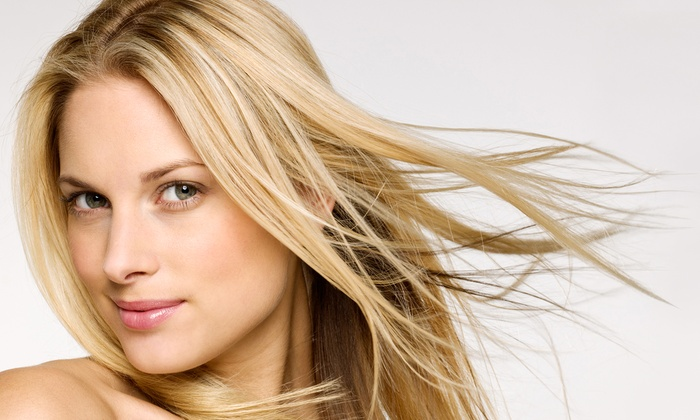 Uptown Shears - Great Uptown: Haircut Package with Deep-Conditioning Treatment and Optional Highlights or Color at Uptown Shears (Up to 62% Off)
